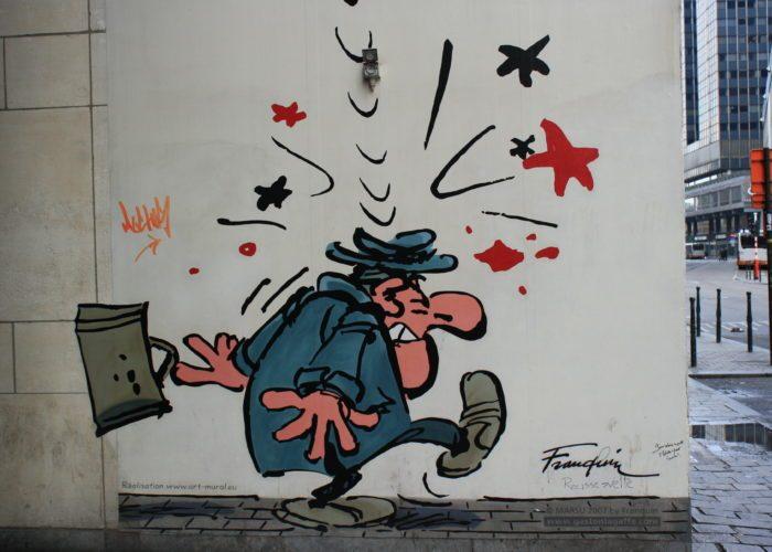 percorso dei murales fumetti Bruxelles