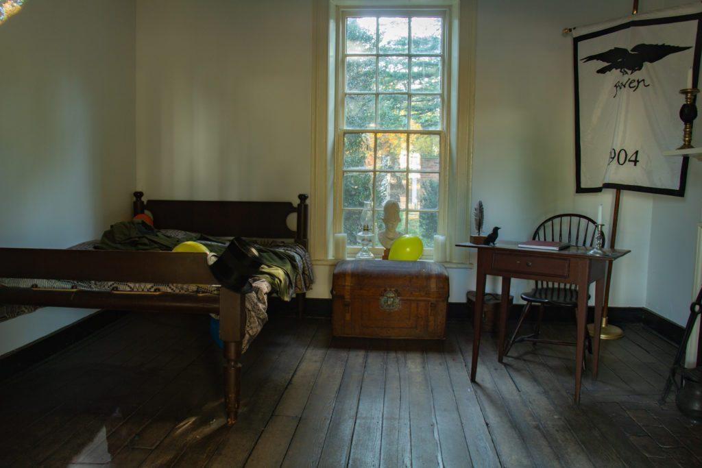 Charlottesville, University of Virginia - stanza di Edgard Allan Poe