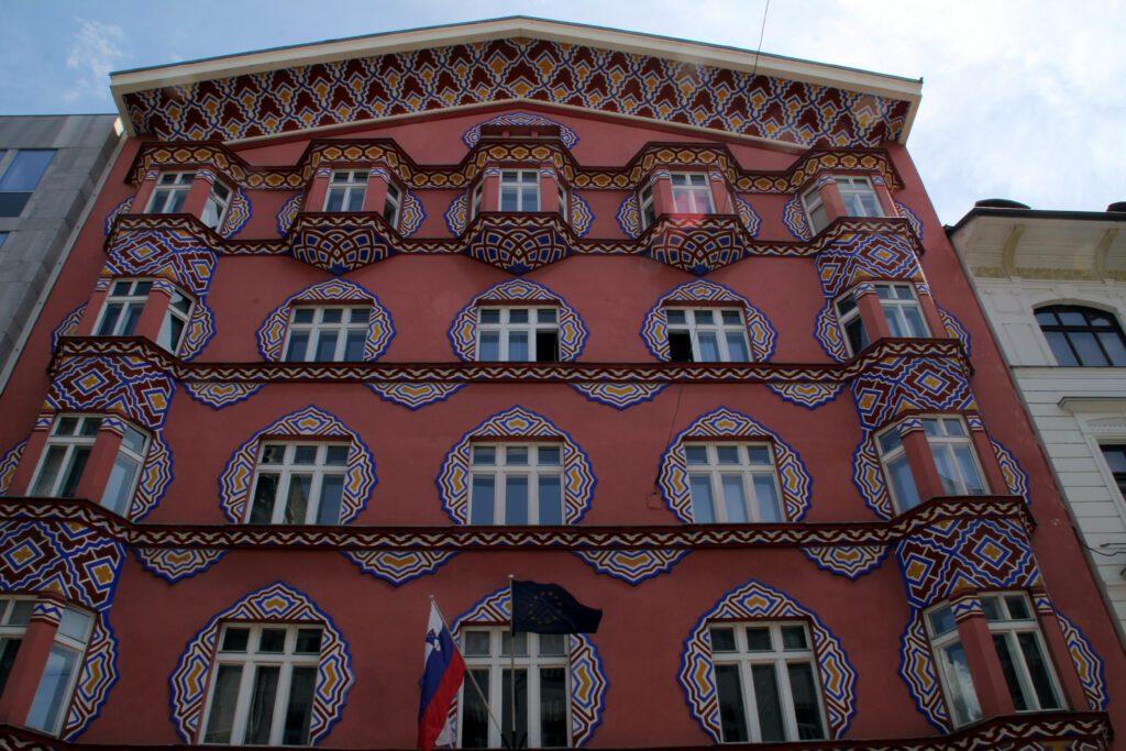 Lubiana, edificio dell'ex Banca Cooperativa