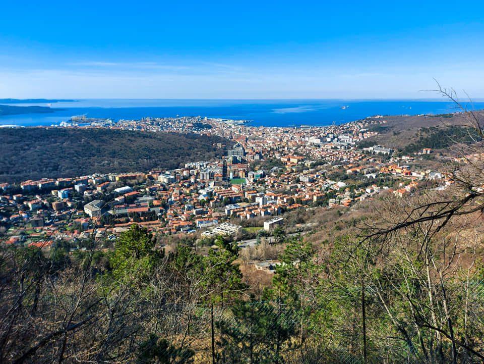 Trieste, veduta dal Sentiero Derin